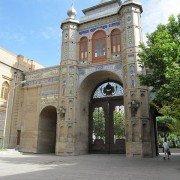 نمای درونی سردر باغ ملی از میدان مشق