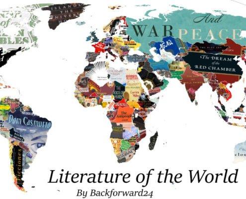 نقشهای که محبوبترین کتاب هر کشور را روی نقشه آن نشان میدهد
